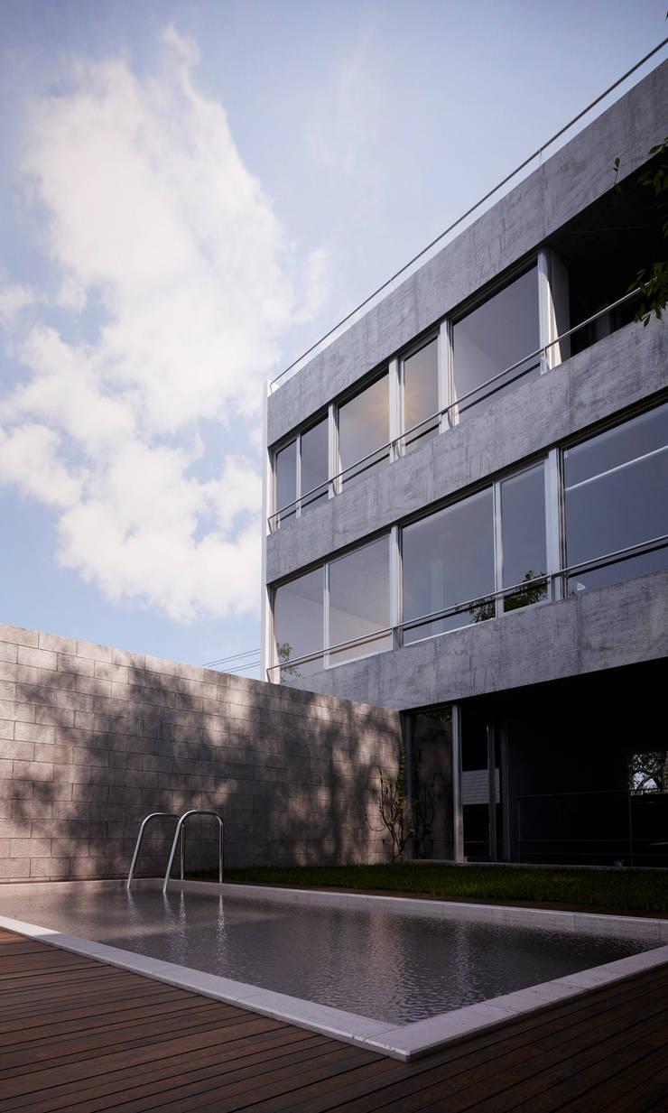 Casa 47. Vivienda Urbana.: Casas de estilo  por reimersrisso