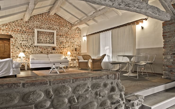 rustic Living room by Fabio Carria