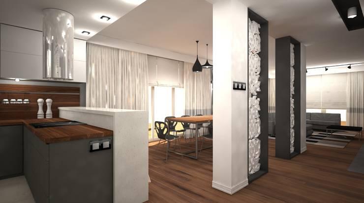 Dom 145m2: styl , w kategorii  zaprojektowany przez AMK Wnętrza