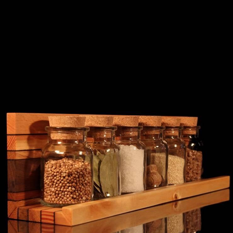 """Gewürzregal """"Madeira"""", 6 Gläser:  Küche von Holzverliebt"""
