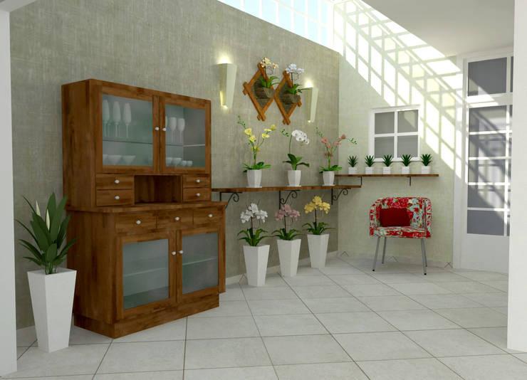 Projekty,  Zieleń wewnątrz zaprojektowane przez Ana Luci Moro Arquitetura