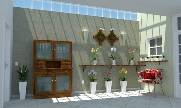 de estilo  por Ana Luci Moro Arquitetura, Ecléctico Madera maciza Multicolor