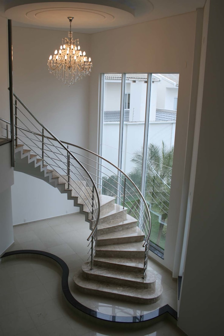 Koridor dan lorong oleh Penha Alba Arquitetura e Interiores, Klasik Marmer