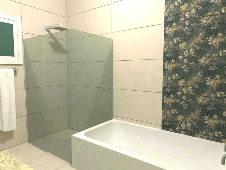 Banheiro da Suíte: Banheiros modernos por Ana Luci Moro Arquitetura