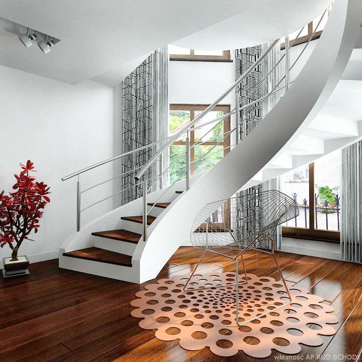 Koridor & Tangga Modern Oleh A.P. RUD Schody Modern