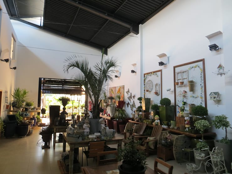 Floricultura Baranoski Casa & Jardim – Foz do Iguaçu: Lojas e imóveis comerciais  por Penha Alba Arquitetura e Interiores