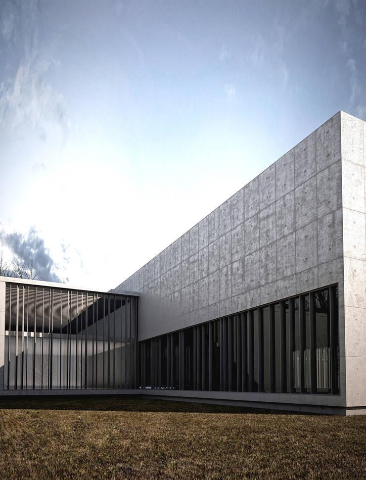 OFICINAS PARA CENTRO ADMINISTRATIVO Y DE FORMACIÓN Estudios y oficinas modernos de reimersrisso Moderno