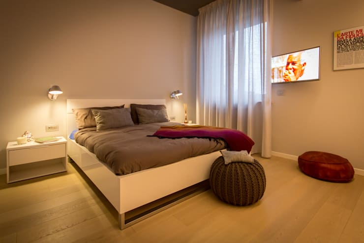 غرفة نوم تنفيذ davide pavanello _ spazi forme segni visioni