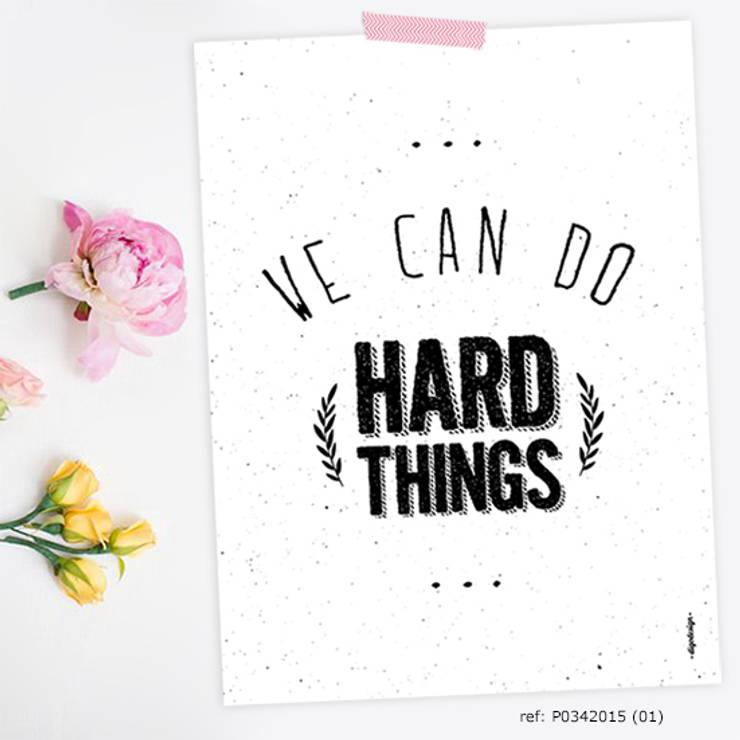 ★ poster ★ we can do hard things ★: Casa  por Digo