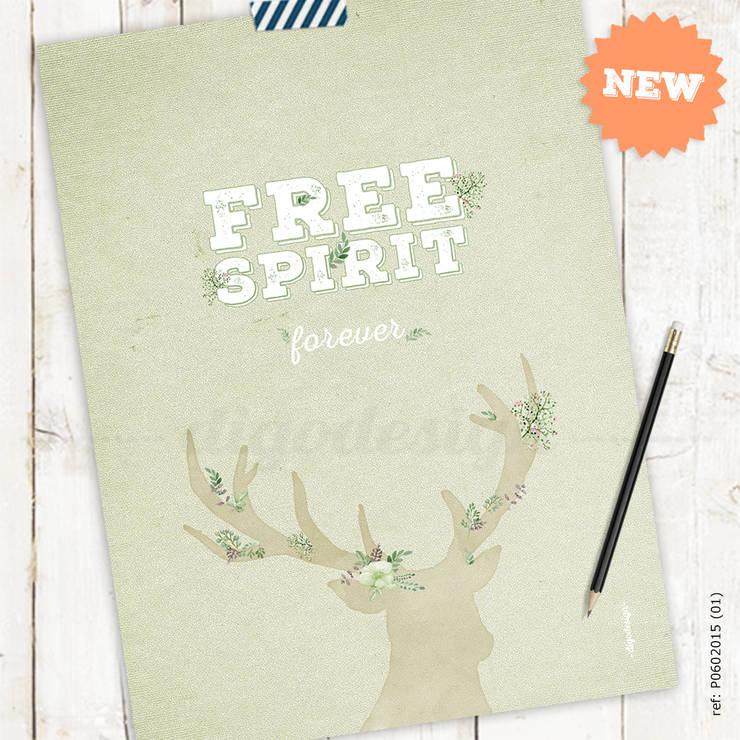 ★ poster ★ free spirit ★:   por Digo ,Escandinavo Papel