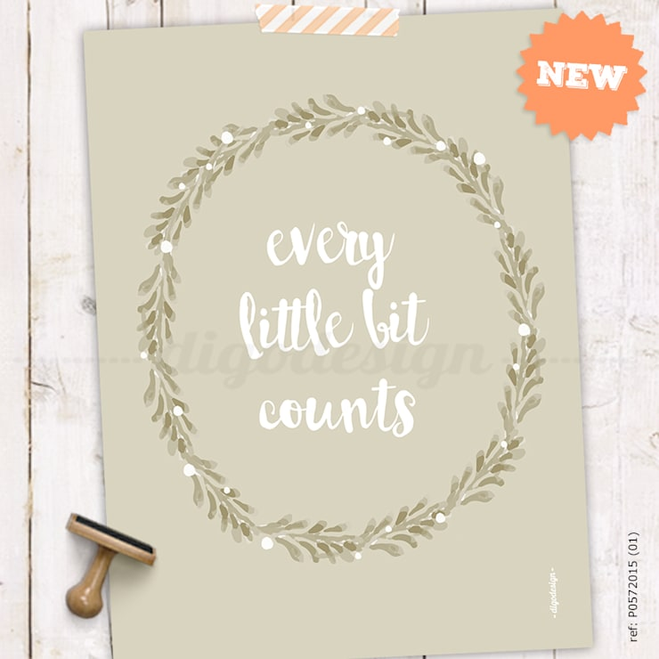 ★ poster ★ every little bit counts ★: Casa  por Digo