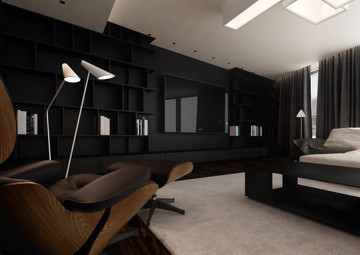 Miodowa: styl , w kategorii Salon zaprojektowany przez KONZEPT Architekci,Minimalistyczny