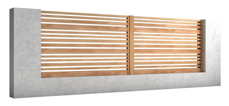Słupek: styl , w kategorii Ogród zaprojektowany przez Nive