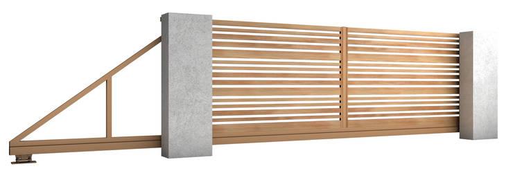 Brama przesuwna: styl , w kategorii Ogród zaprojektowany przez Nive