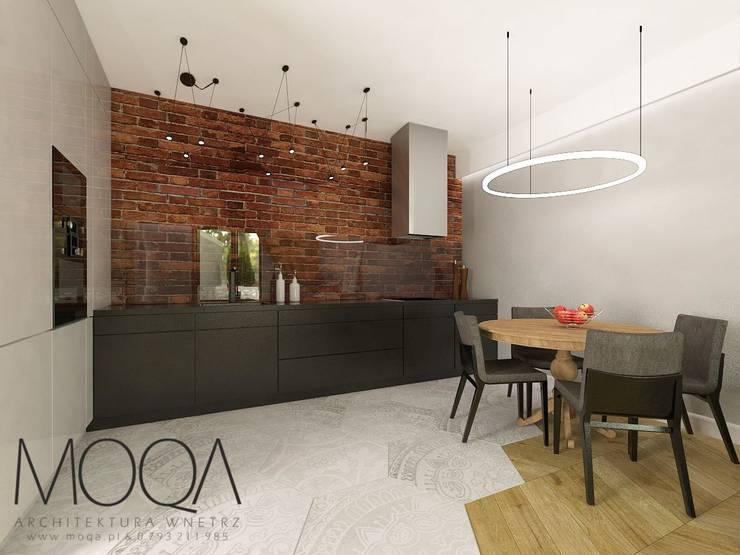 Salon połączony z kuchnią: styl , w kategorii  zaprojektowany przez MOQA Monika Lepczyńska