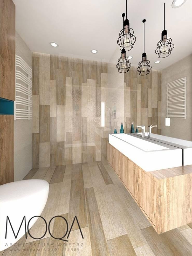 Łazienka: styl , w kategorii  zaprojektowany przez MOQA Monika Lepczyńska