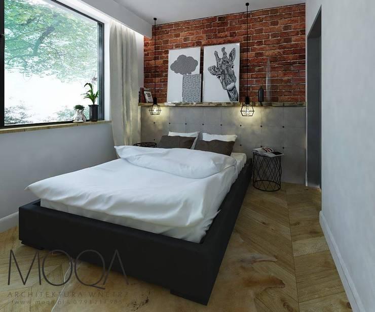 Sypialnia: styl , w kategorii  zaprojektowany przez MOQA Monika Lepczyńska