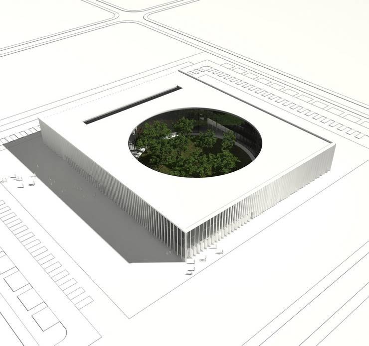PARK TECHNOLOGICZNY: styl , w kategorii Biurowce zaprojektowany przez PROSTO ARCHITEKCI,Minimalistyczny
