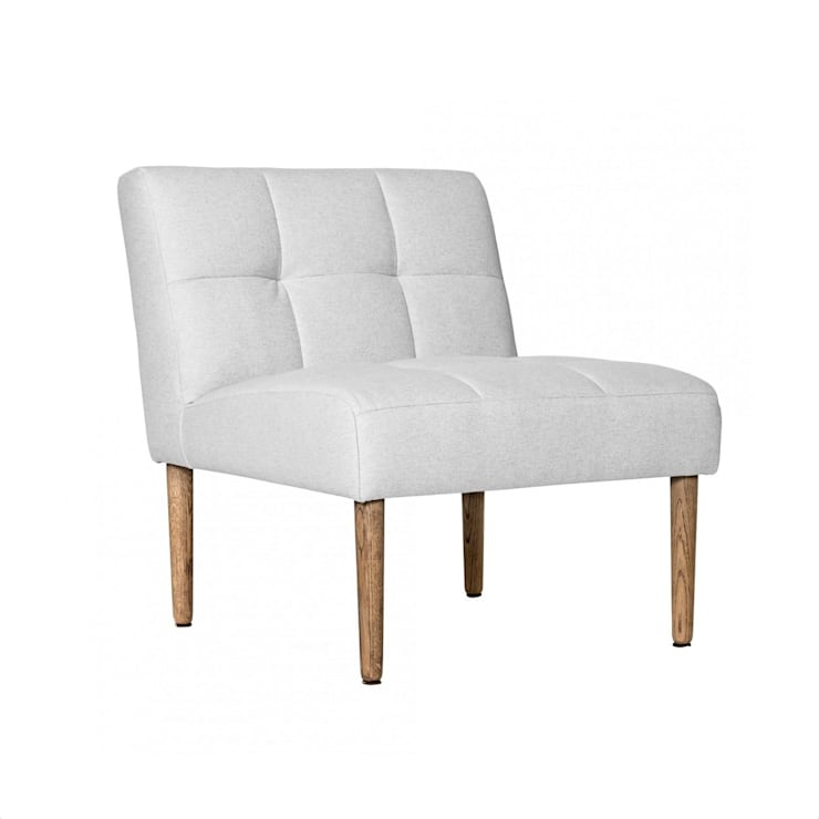 Szary fotel SQUARE: styl , w kategorii  zaprojektowany przez onemarket.pl,Skandynawski Bawełna Czerwony