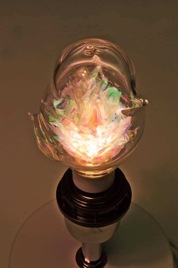 새 모양의 동굴전구(물이끼ver): 글로리홀 GLORYHOLE LIGHT SALES의  침실