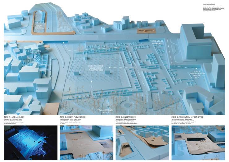 Vistas da maqueta da proposta:   por FORA - Fagulha Oliveira Ruivo