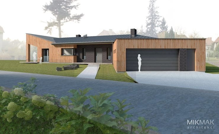 Projekt domu w Szprotawie: styl , w kategorii Domy zaprojektowany przez MIKMAK architekci