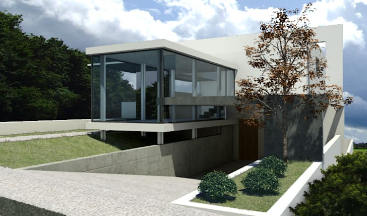 casa de vidro: Casas modernas por GNC arquitetura e interiores