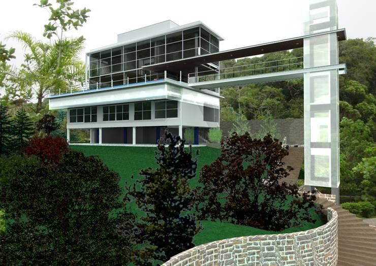 casa panorâma: Casas  por GNC arquitetura e interiores