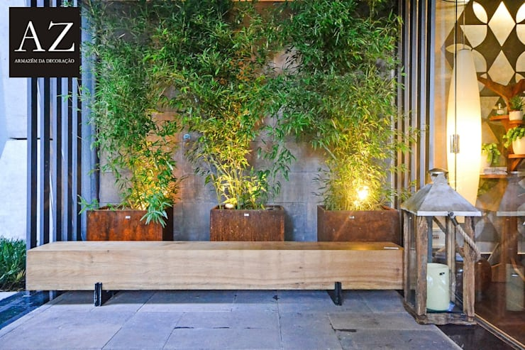 Jardines de estilo  por TOLENTINO ARQUITETURA E INTERIORES