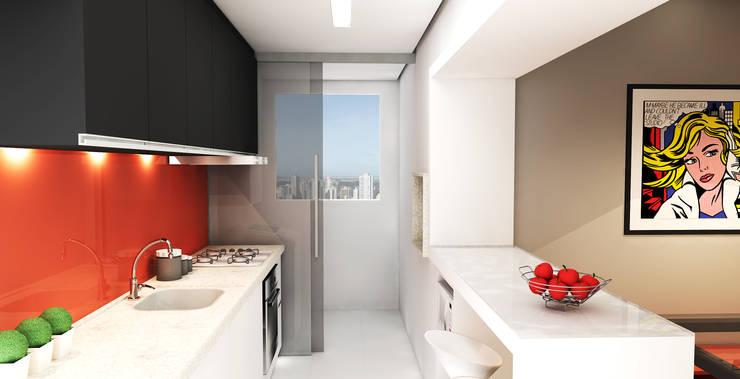 APARTAMENTO URBANO: Cozinha  por Maxma Studio,