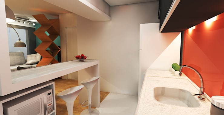 APARTAMENTO URBANO: Salas de jantar  por Maxma Studio,