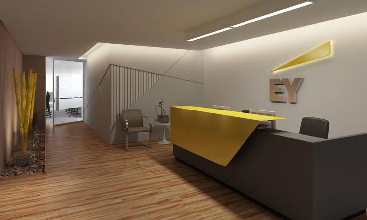 escritórios: Escritórios  por GNC arquitetura e interiores,Moderno