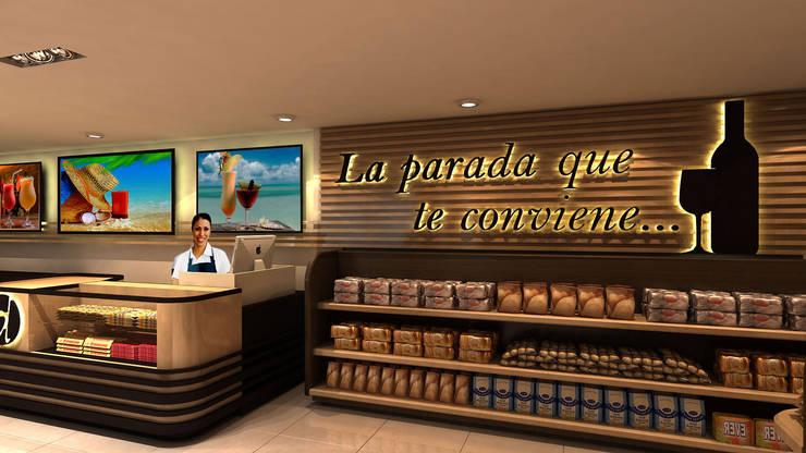 Bodegón Donde Alfredo: Espacios comerciales de estilo  por NOGARQ C.A.