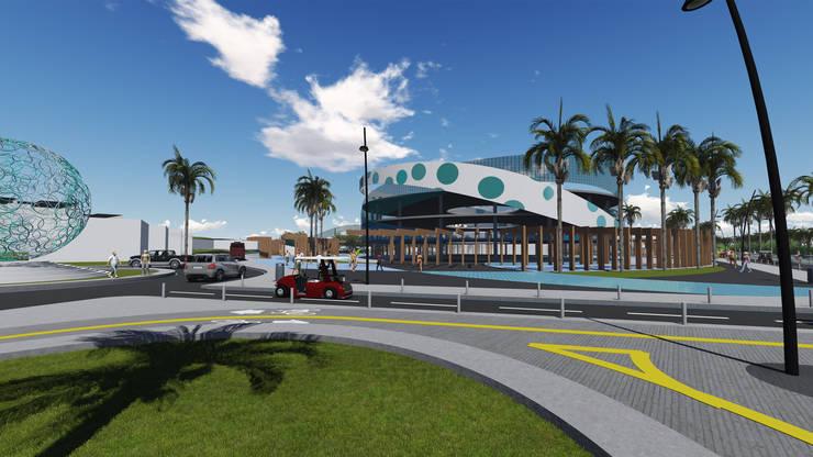 Playa el Agua: Espacios comerciales de estilo  por NOGARQ C.A.