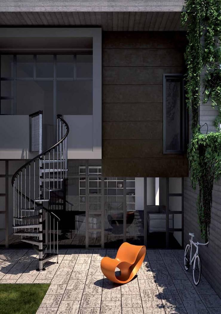 Elegante y con acabados perfectos : Vestíbulos, pasillos y escaleras de estilo  por Rintal