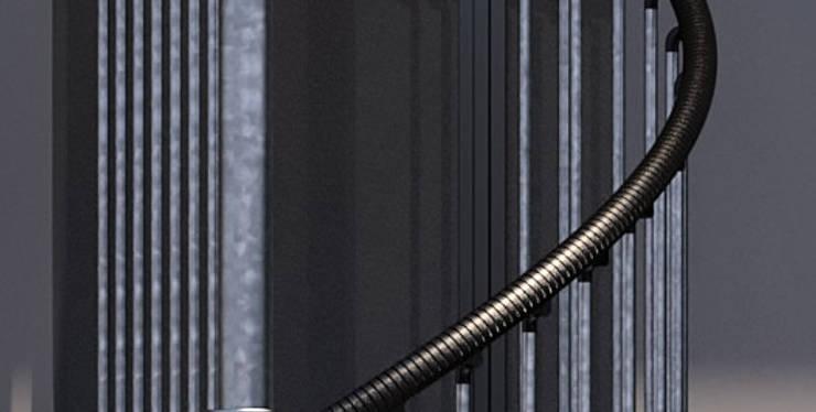 Pasamanos de Mople, fácil de limpiar. : Vestíbulos, pasillos y escaleras de estilo  por Rintal
