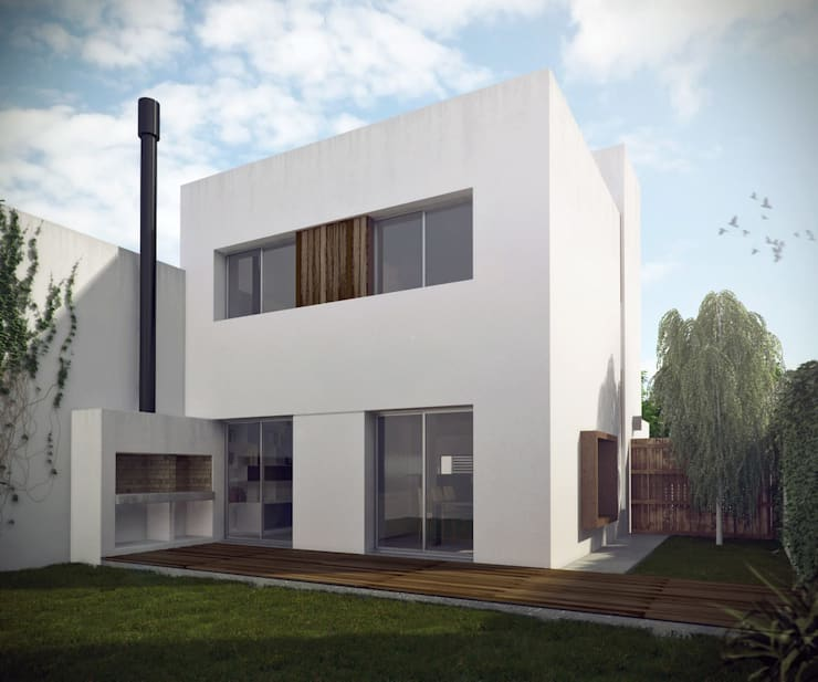 Casa Bergallo: Casas de estilo moderno por DDARQ3D