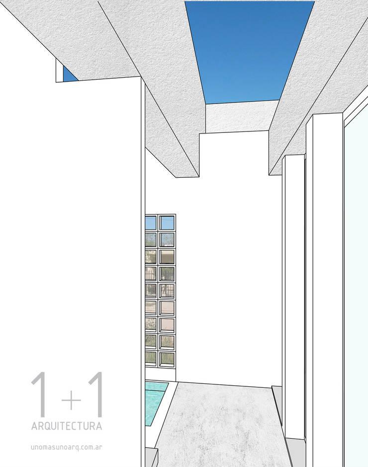Transición exterior - interior:  de estilo  por 1+1 arquitectura,