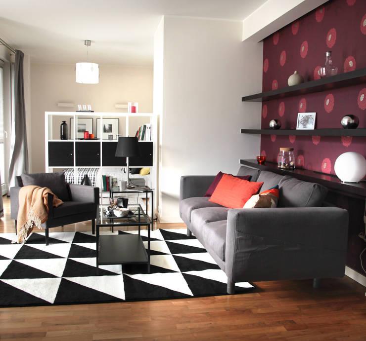Salon, część wypoczynkowa: styl , w kategorii Salon zaprojektowany przez Mhomestudio