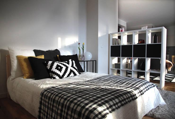 Sypialnia: styl , w kategorii Sypialnia zaprojektowany przez Mhomestudio