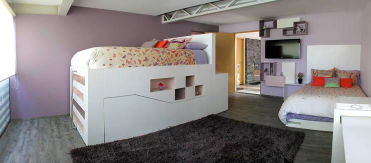 Casa Begalg : Recámaras infantiles de estilo  por DIN Interiorismo