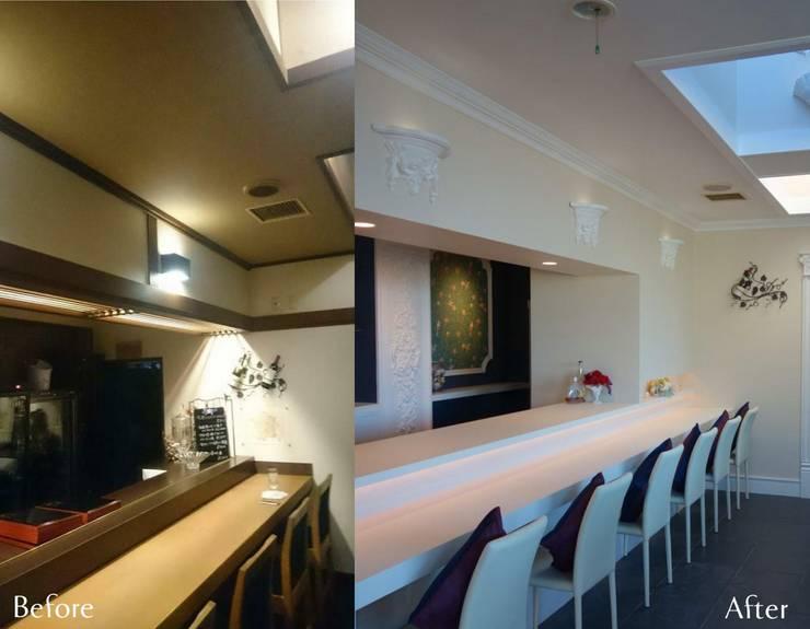 フレンチと和食が楽しめる美空間: HONEY HOUSEが手掛けたです。