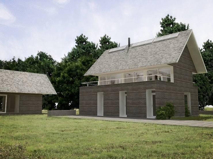 Casa - Taller : Casas de estilo  por RRA Arquitectura