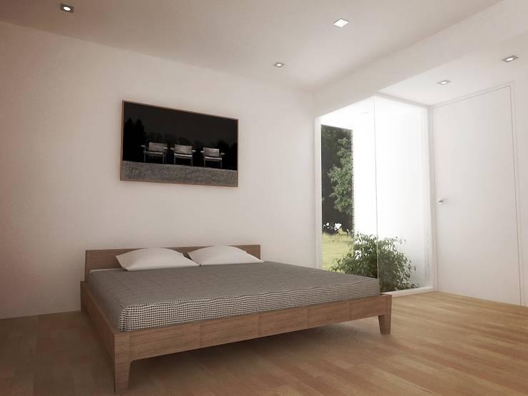 Casa - Taller : Cuartos de estilo  por RRA Arquitectura