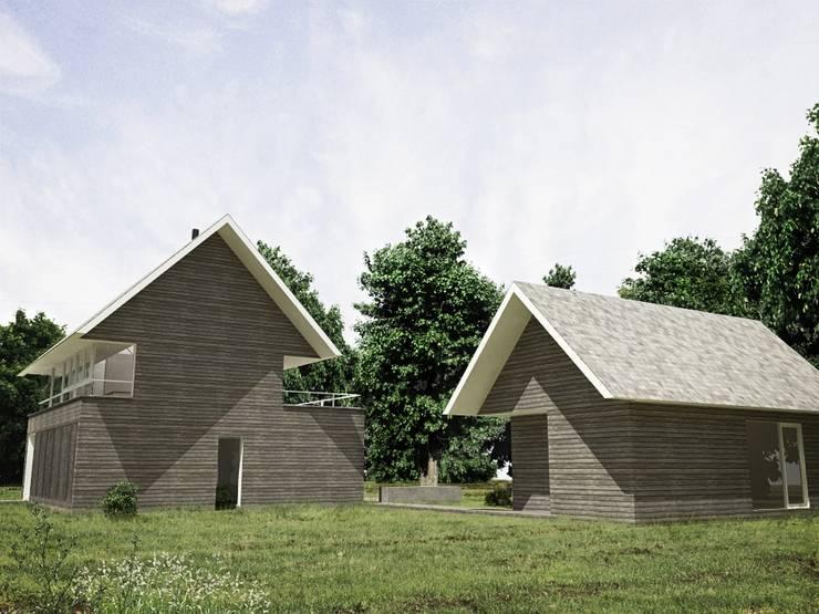 Casa – Taller : Casas de estilo  por RRA Arquitectura