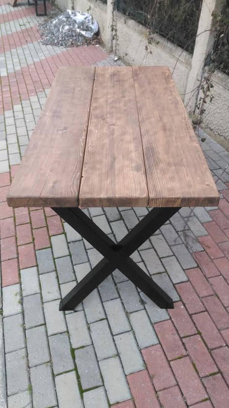 Wood_Dekor – Doğal Ağaç Masa:  tarz Balkon, Veranda & Teras