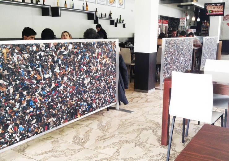 NaturDecoTech - Painéis 100% em Couro: Sala de jantar  por J. VAZ PINHEIRO LDA