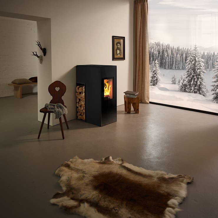 minimalistische Woonkamer door RIKA Innovative Ofentechnik GmbH