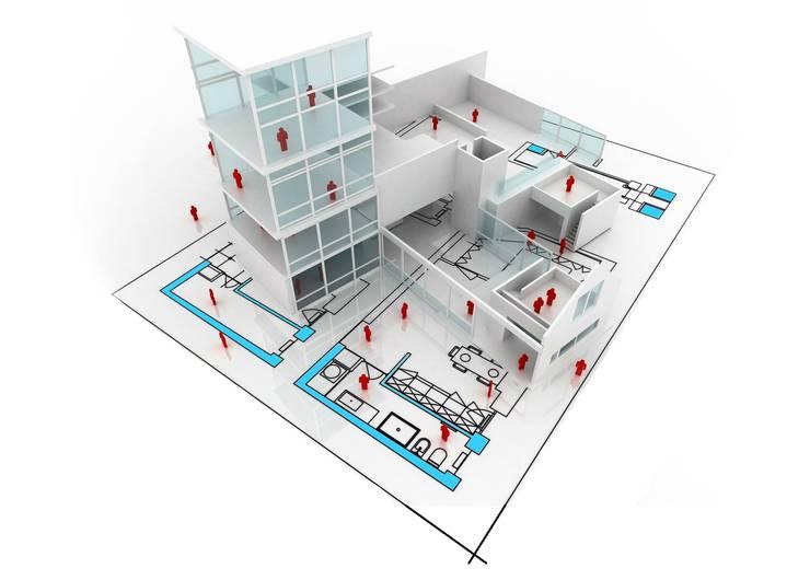 Casas estilo moderno: ideas, arquitectura e imágenes de NOUVELLE. | Proje Danışmanlık Moderno