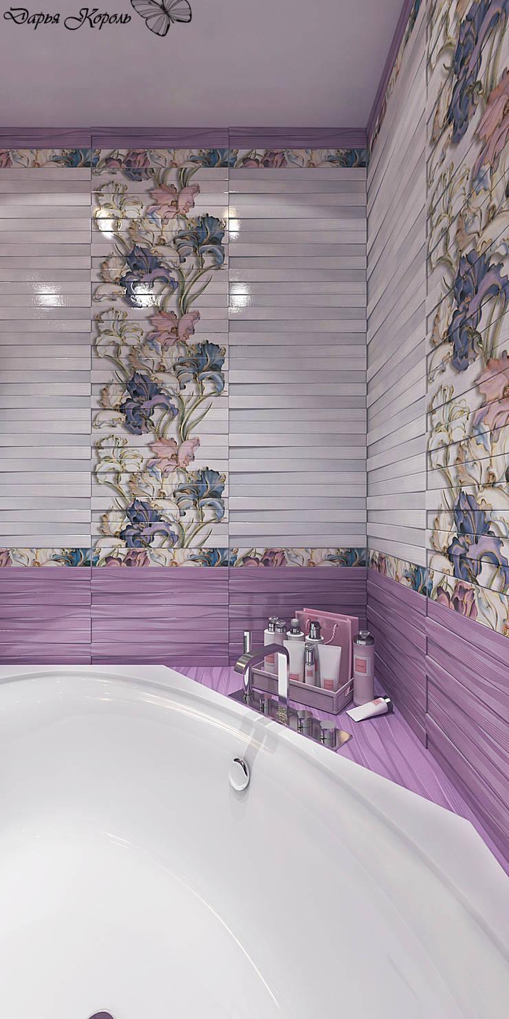Ванная в лиловых тонах: Ванные комнаты в . Автор – Your royal design,